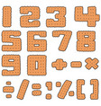 set of cracker number vector image