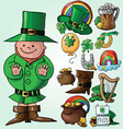 Set of St Patricks Day symbols vector image vector image