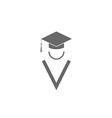 Silhouette graduate icon student education logo vector image vector image