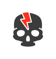 skull with acute pain colored icon broken cranium vector image vector image