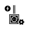 socket installation glyph icon vector image vector image