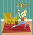 sportive young woman exercising on the background vector image vector image