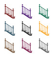 stairs icon in black style isolated on white vector image vector image