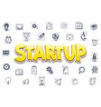 the concept of a startup icons business themes vector image
