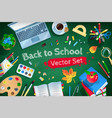 top view back to school set vector image