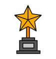 trophy star award icon vector image