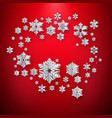 white paper christmas snowflakes decoration on a vector image