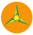 yellow with green spinner blades vector image vector image