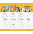 Business calendar 2016 vector image