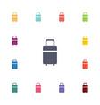 travel bag flat icons set vector image