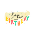 Greeting card on his birthday vector image
