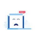 404 error page concept or file not found vector image vector image