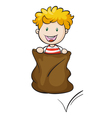 a boy and burlap vector image vector image