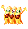 A team of yellow monsters vector image vector image