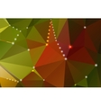 Abstract background with triangular shapes and vector image vector image