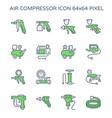 air compressor icon vector image vector image