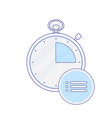 alarm clock hour list minute time timer icon vector image