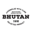 Assembled in Bhutan rubber stamp vector image vector image