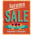 Authum sale vector image vector image