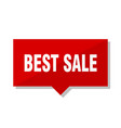 best sale red tag vector image vector image