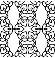 black and white moroccan pattern vector image