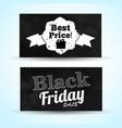 black friday monochrome horizontal banners vector image vector image