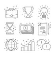 business line design icons vector image