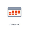 calendar icon premium two colors style design vector image vector image