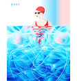color diving swimmer competition in pool vector image vector image
