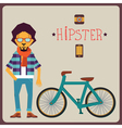 concept hipster vector image