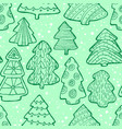 cute christmas seamless pattern with christmas vector image