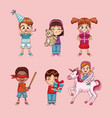 cute kids cartoon vector image vector image
