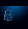 cyber security concept lock symbol vector image vector image