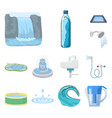 design of water and drop symbol collection vector image