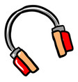 drawing a headphones on white background vector image vector image