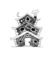 Fairy house sketch for your design vector image vector image