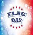 flag day america banner 2 vector image vector image