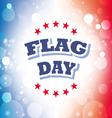 flag day america banner 2 vector image