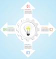 Gear and lightbulb infographic design template vector image
