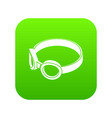 glasses welding mask icon green vector image vector image