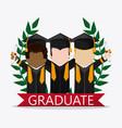 graduation cap boy graduate university icon vector image vector image