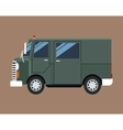 green truck van delivery shipping mail service vector image vector image