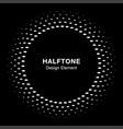 halftone circle frame oval dots emblem vector image vector image