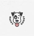happy doggy logo vector image vector image