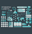 infographic elements cyan theme vector image