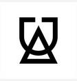 line art ua au initials simple geometric company vector image vector image