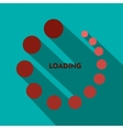 Loading icon in flat style vector image vector image