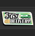 logo for fast delivery vector image