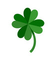 lucky green four leaf clover for st patricks day vector image