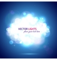 Magical background with blurred bokeh lights and vector image vector image